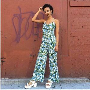 American Apparel floral print wide-leg Jumpsuit